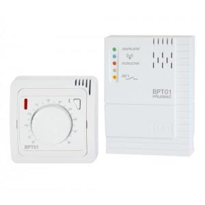 BPT-012 je bezdrátový termostat s ovládáním pomocí kolečka