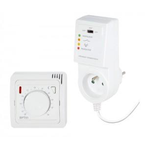 BPT-013 je bezdrátový termostat s ovládáním pomocí kolečka